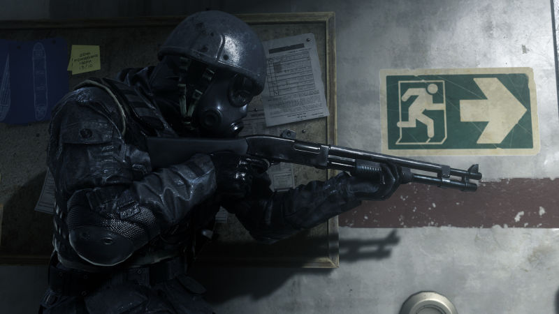 A screenshot from Call of Duty: Modern Warfare Remastered, not to be confused with Call of Duty: Modern Warfare